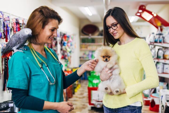 métier de vendeur en animalerie